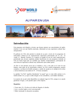 Folleto AU PAIR EN USA 2014
