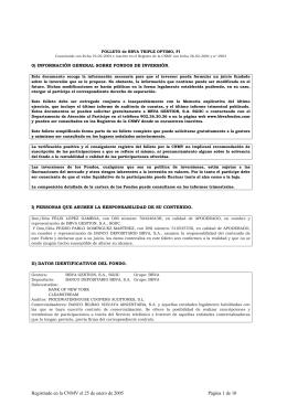 FOLLETO de BBVA TRIPLE OPTIMO, FI
