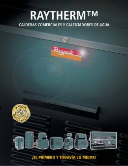 folleto boiler a gas uso comercial