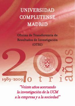Aniversario 20 años OTRI-UCM