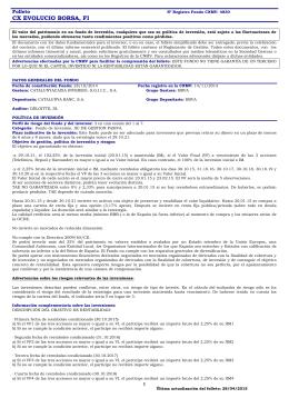CX EVOLUCIO BORSA, FI