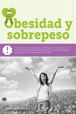 Folleto Obesidad y sobrepeso - Comisión Honoraria para la Salud