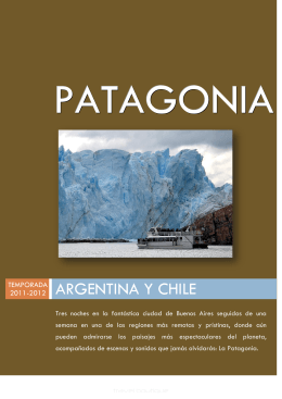 PATAGONIA ARGENTINA CHILE FOLLETO 2011-12