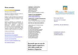 folleto oncología - Integradas en salud
