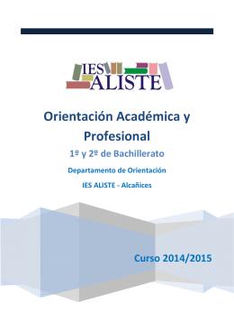 folleto orientación 1º y 2º de bachillerato 2014-2015