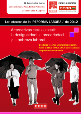 Folleto I - Unión Regional de CC.OO. de La Rioja