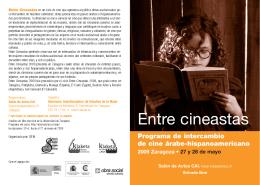 Entre cineastas - Universidad de Zaragoza