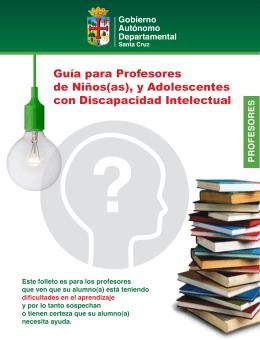 Guía para Profesores de Niños(as), y Adolescentes con