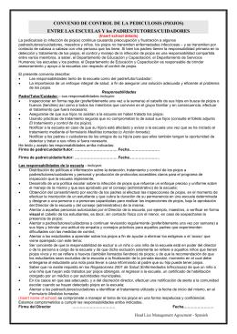 CONVENIO DE CONTROL DE LA PEDICULOSIS (PIOJOS)
