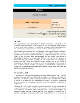 Leer para otros - Ministerio de Educación