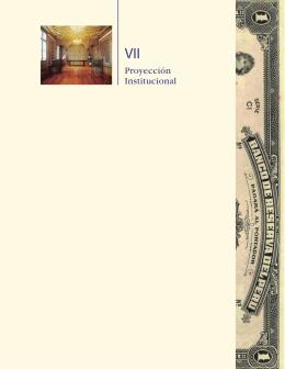 VII. Proyección institucional - Banco Central de Reserva del Perú