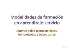 """Otras EXPERIENCIAS """"Aprendizaje Servicio"""""""