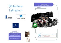 Folleto inscripción cultura en la ciudad VI 2013