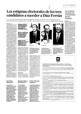 Los estigmas electorales de los tres candidatos a suceder a Díaz