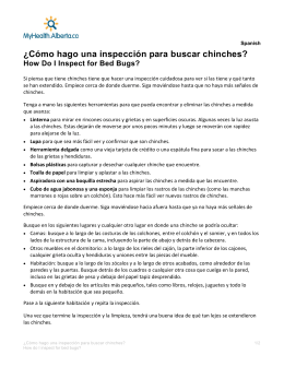 How Do I Inspect for Bed Bugs? (Spanish) (Feb. 25, 2015)