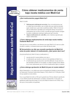 Hoja informativa sobre Medi-Cal