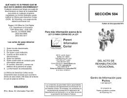SECCIÓN 504 - Parent Information Center