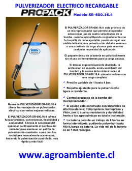 FOLLETO PULVERIZADOR ELECTRICO RECARGABLE SR 600.16.4
