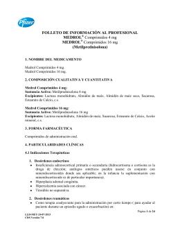 FOLLETO DE INFORMACIÓN AL PROFESIONAL MEDROL