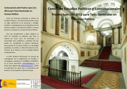 Folleto informativo - Centro de Estudios Políticos y Constitucionales