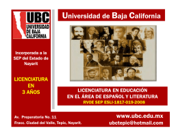folleto informativo - Universidad de Baja California