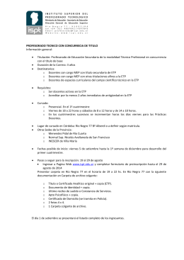 Folleto Informativo resumido