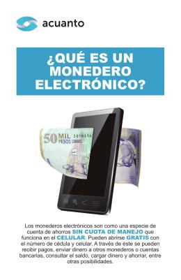 Monedero Electrónico Folleto Digital (Versión 1.0)