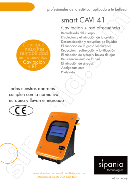 folleto maquina SIPANIA smart