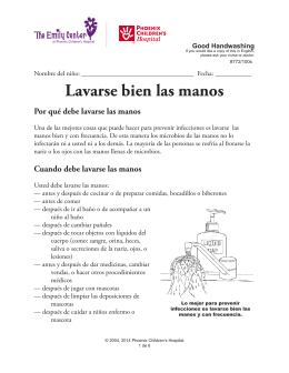 Good Handwashing (Lavarse bien las manos) 772/100s