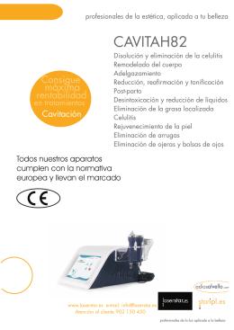 folleto maquina cavitacion H8