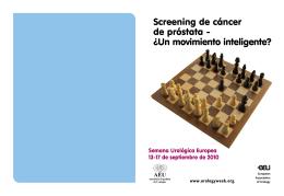 Folleto: Cáncer de Próstata - Asociación Española de Urología