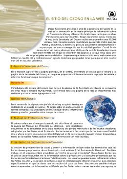 El sitio dEl ozono En la wEb
