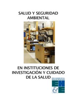 salud y seguridad ambiental en instituciones de investigación y