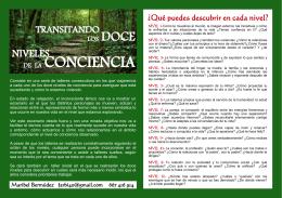 folleto transitando los doce niveles de la conciencia