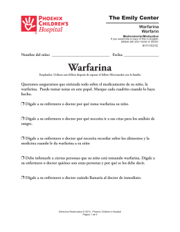 Warfarin (Warfarina) #1111/531s