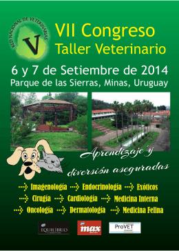 folleto 2014.cdr - Sociedad de Medicina Veterinaria del Uruguay