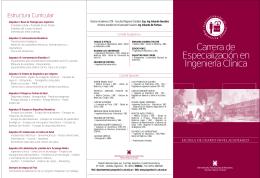 Carrera de Especialización en Ingeniería Clínica