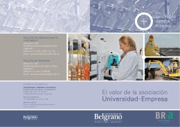Folleto Convenio Universidad de Belgrano