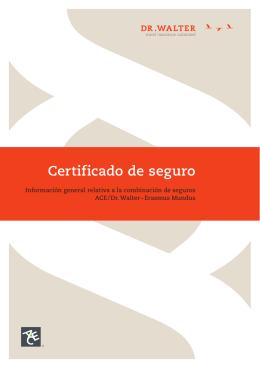Certificado de seguro
