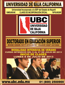 FOLLETO Doctorado en Educación Superior