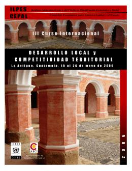 Folleto del curso - Comisión Económica para América Latina y el
