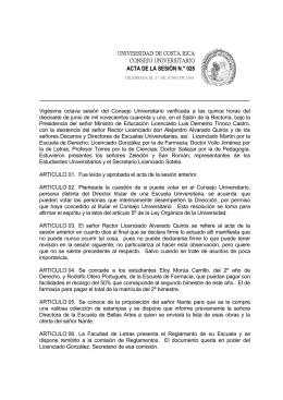 ACTA DE LA SESIÓN N.° 028