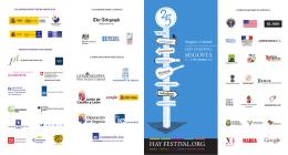 Programa Hay Festival Segovia 2012