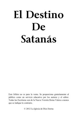 El Destino De Satanás