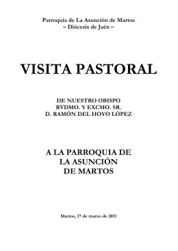 Libreto Visita Pastoral 2011 - Parroquia de la Asuncion de Martos