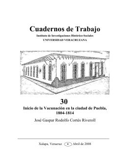 Cuadernos de Trabajo 30 - Universidad Veracruzana