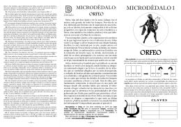 Microdédalo 1: Orfeo