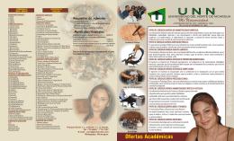 UNN FOLLETO LISTO 2008 - Universidad del Norte de Nicaragua
