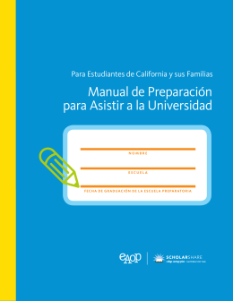 Manual de Preparación para Asistir a la Universidad