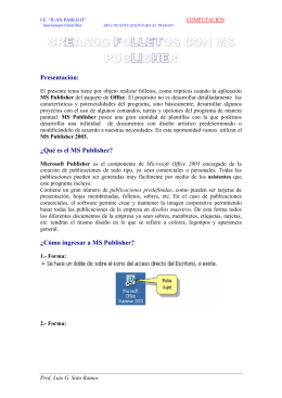 CREANDO FOLLETOS CON MS PUBLISHER